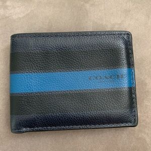 Coach Mens Black | Navy Bi-Fold Wallet